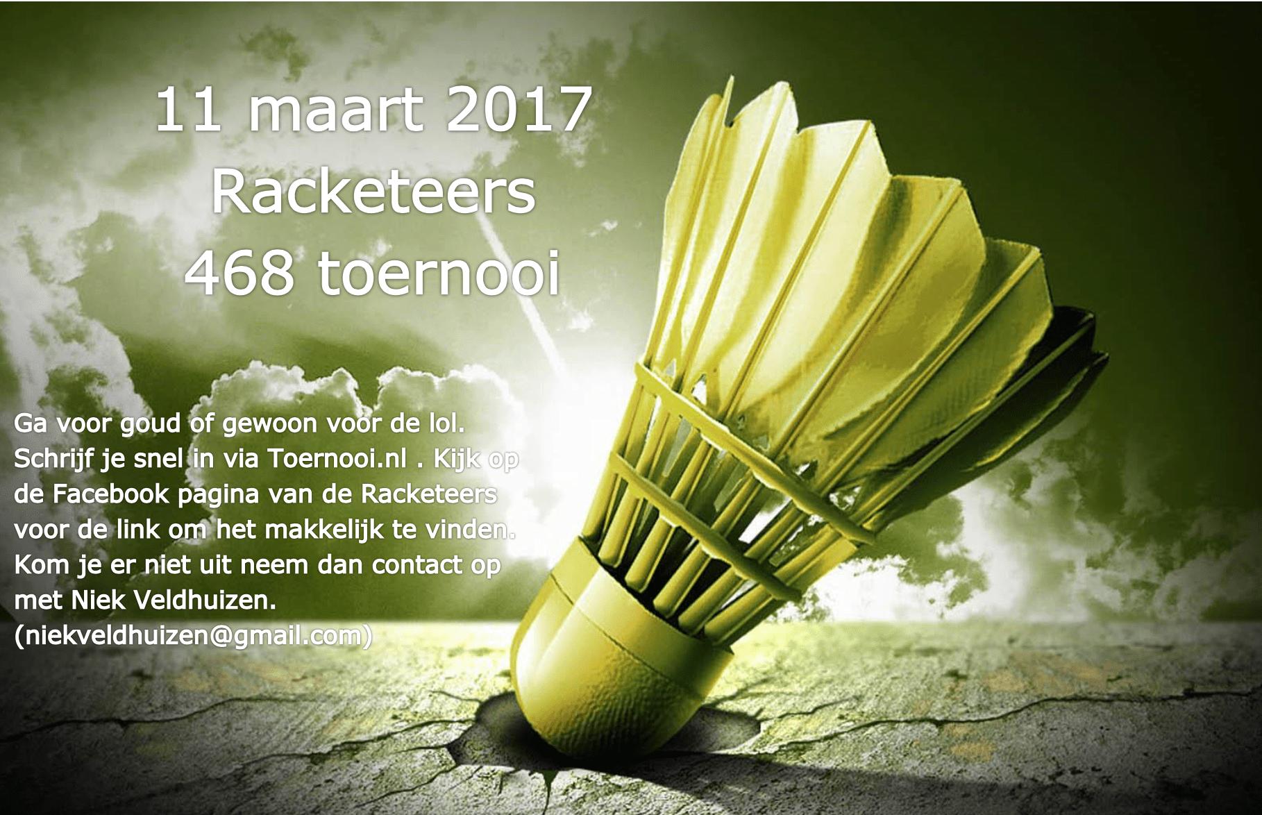 11 maart 2017 Racketeers 468 toernooi